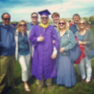 My son's college graduation, with my immediate family, less than 2 months after getting out of the hospital