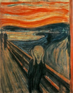"""The Scream"" by artist Edvard Munch (Norwegian: Skrik) 1893"