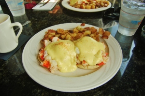 Lobster Benedict at the Lobster Cove