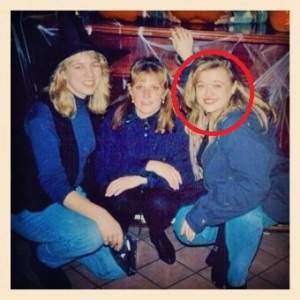 Me, in the red circle, with friends on Halloween in 1994