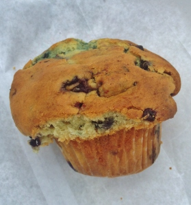 A Pie in the Sky blueberry muffin