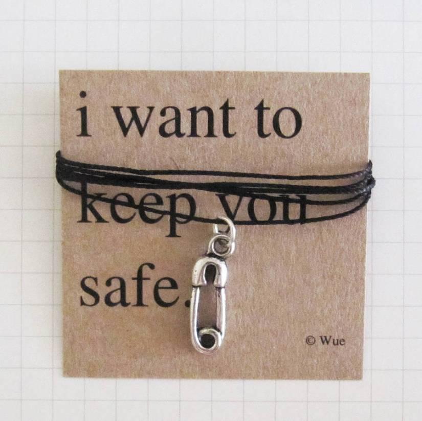 ('Keep You Safe' Token Necklace)