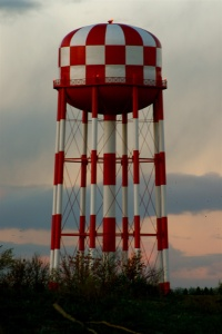 (unknown water tower as a visual)