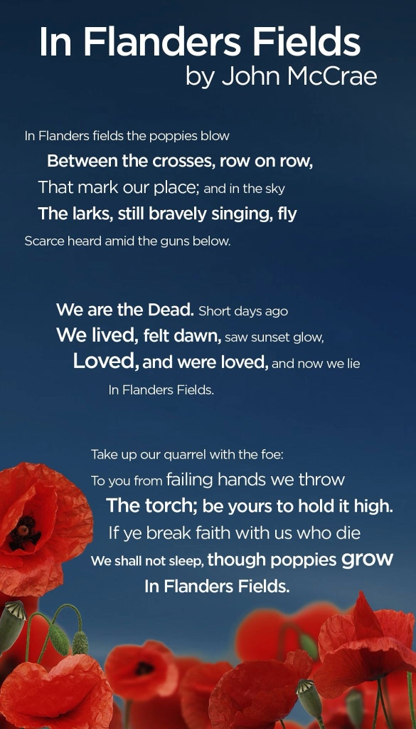 In Flanders Fields by John McCrea