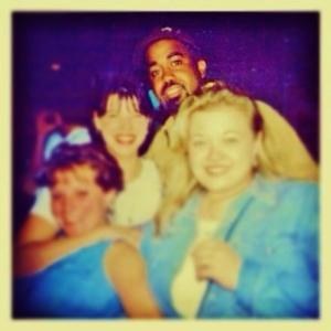 Us with Hootie and the Blowfish's Darius Rucker in Bermuda '95