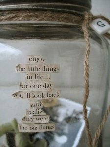 Enjoy the Little Things Jar
