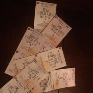 Date Night ticket stubs