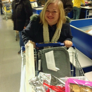 Me celebrating at IKEA