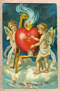 Scan of a Valentine greeting card dated 1909 [wikipedia]