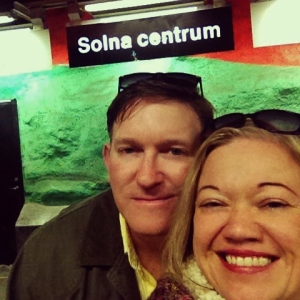Us in the Solna Centrum Metro Station