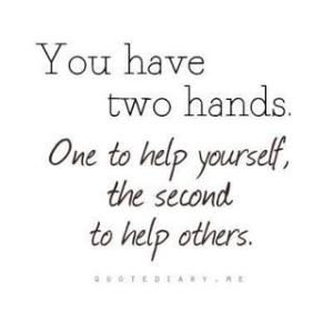 Two Hands One for You One for Others