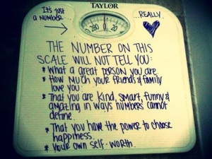 A number on a scale
